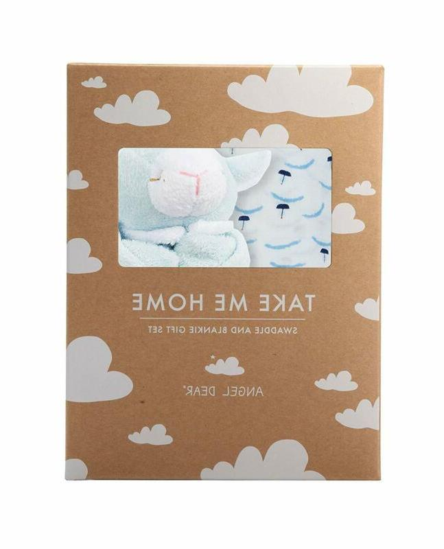 swaddle and blankie gift set ditsy boats