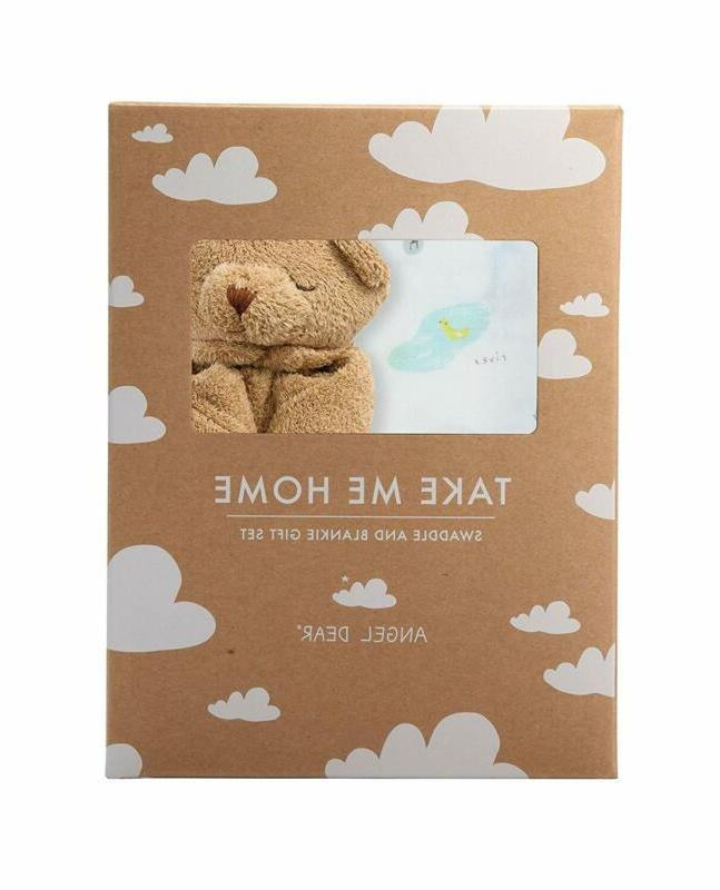 swaddle and blankie gift set i love