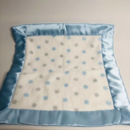 Swaddle Designs Lovey Small Dots Satin Blue Gray