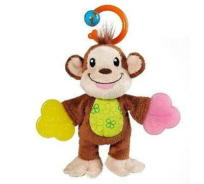 teether babies monkey multi textured surfaces baby