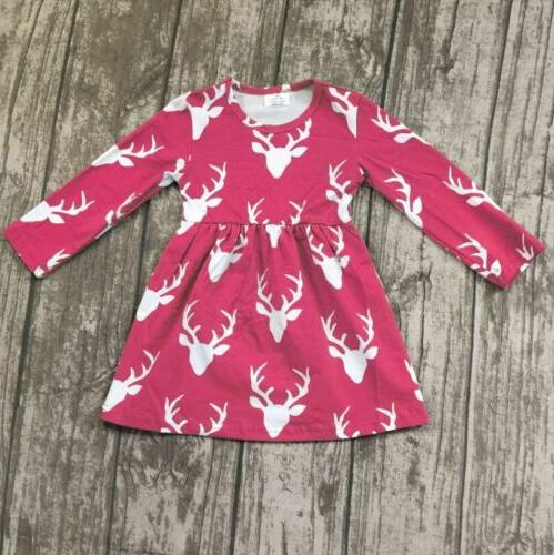 US Stock Kids Baby Deer Clothes Gifts