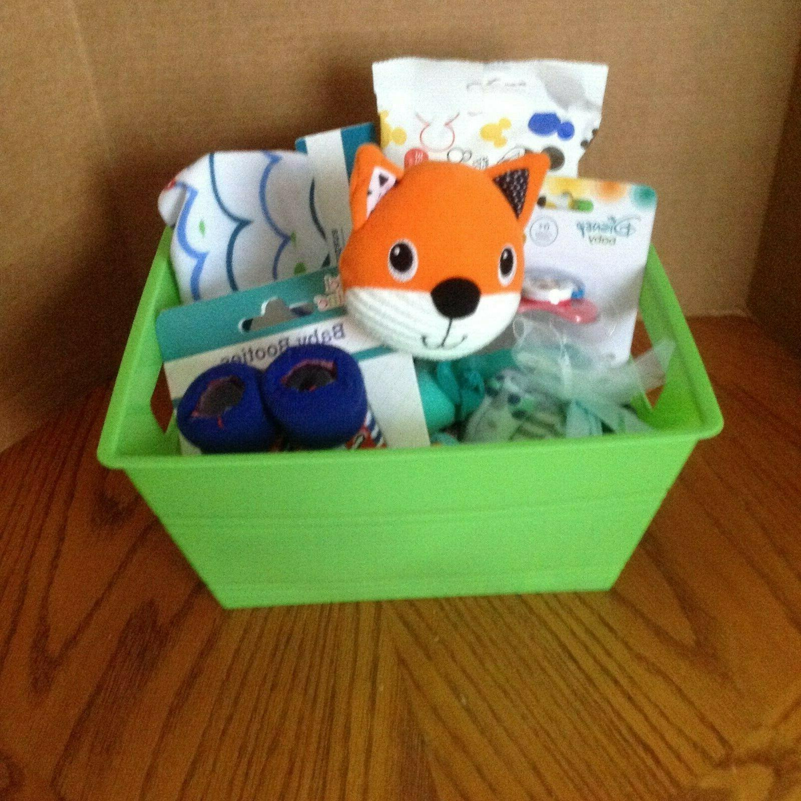 welcome new baby baby shower gift basket
