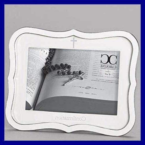 "White Confirmation Keepsake Picture WHITE 6 1/2"" Baby Produc"