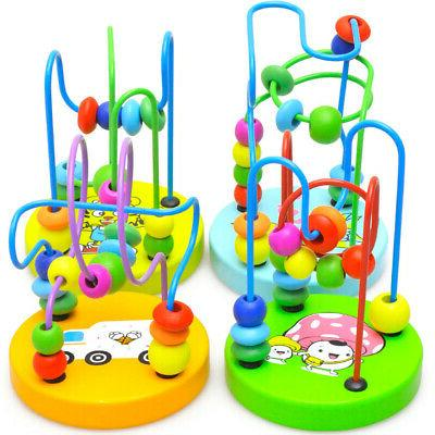 Wooden Colorful Beads Wire Maze Educational Gift Toy