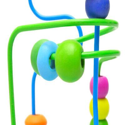 Wooden Baby Colorful Mini Wire Maze Gift Toy