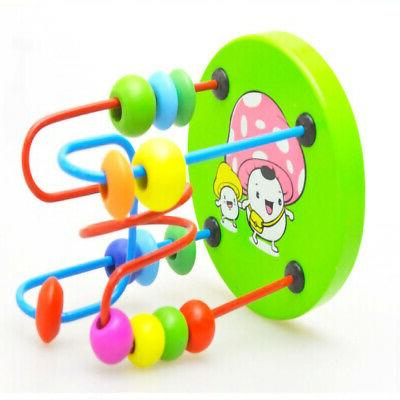 Wooden Math Colorful Around Wire Toy