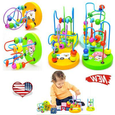 wooden toys baby math colorful mini around
