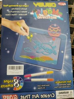 Light Drawing Board Sketch Pad Doodle Writing Craft Art for