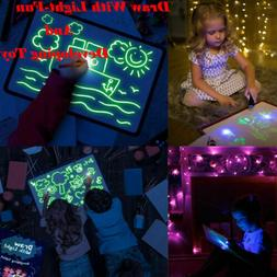 Toys for Kids Light Drawing Board Pad Doodle Writing Educati