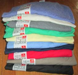Men's V Neck T-Shirt 3XL Hanes 6 Pc 6 Color100% cotton 50/50