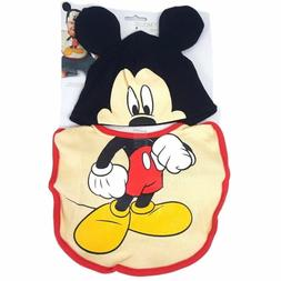 Disney Mickey Mouse Bib Gift Set Baby Infants 0+ Officially
