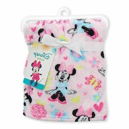 Minnie Mouse Baby Girl Fleece Blanket Disney NEW Baby Shower