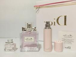 MISS DIOR BLOOMING BOUQUET WOMEN PERFUME EDT 3.4 oz + 0.34 o