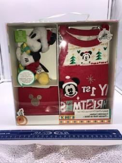 Disney Baby My 1st Christmas Gift Set 4 Piece Boy 0-3 Mo Rom
