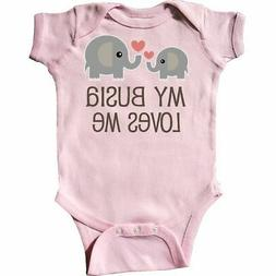 Inktastic My Busia Loves Me Childs Infant Creeper Babcia Gra