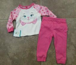 NEW Disney Aristocrats Marie Pink Baby Girls 2 Piece Knit Ou