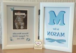 NEW BABY Personalised GIFT PHOTO FRAME Print BOY OR GIRL Kee