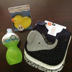 NEW Baby Shower Gifts - 3 Carter Bibs, Munchkin 1 Sippy Cup