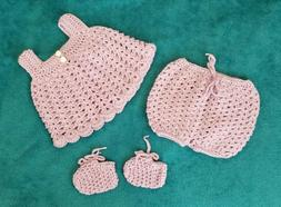 New Newborn baby clothes top & shorts bloomers shoes Lot gre