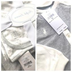 NEW! Ralph Lauren Polo 2 PC Gift Set Baby BOY, Size 6 MO Rom