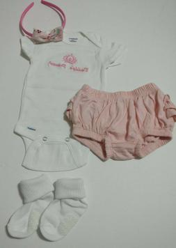 Newborn baby girl clothing 4 pc items lot 0-3 months infant