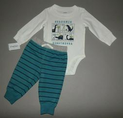NWT, Baby boy clothes, 9 months, Carter's 2 piece set/  SEE