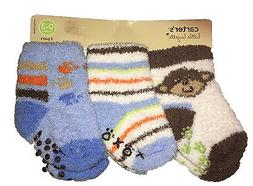 NWT - Carter's Baby Boys' 3 Pack Terry Soft Socks, 0-3 Month