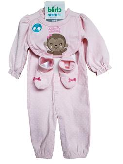 *NWT- CARTER'S - BABY GIRL'S 3-PC JUMPSUIT, BIB & BOOTIES GI