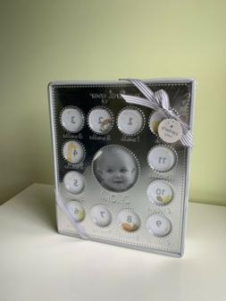 NWT Carter's My First Year Picture Frame Silver $24 Baby Gif