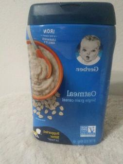 Gerber Oatmeal Cereal Single Grain, 16 oz NonGMO BRAND NEW S