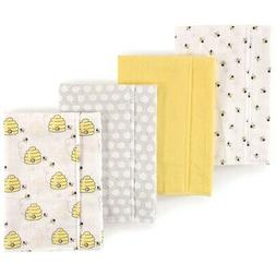 - Hudson Baby Layered Flannel Burp Cloths. Unbranded