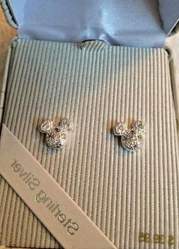 Disney Parks Sterling Silver Mickey Mouse Icon Stud Earrings