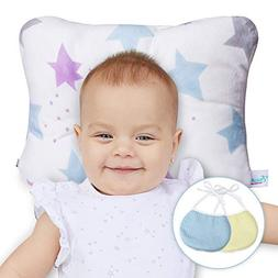 Newborn Baby Head Shaping Pillow - Washable, Neck Support fo