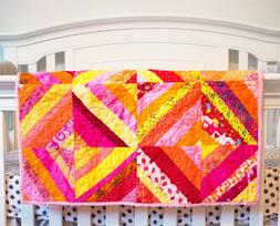 pink baby quilt for girls baby girl