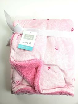 Hudson Baby Plush Baby Blanket Floral 30x40 Inches Baby Girl