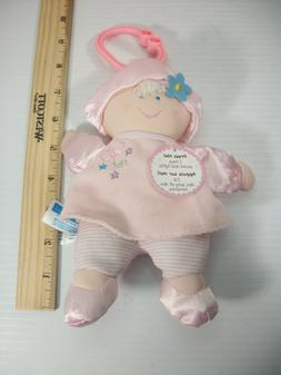 "Kids Preferred Plush Pink Soft Lovey Baby Doll Musical ""You"