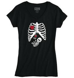 Pregnant Women Baby Halloween Shirt | Cute Gift Skeleton Coo