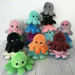 Reversible Flip Octopus Plush Stuffed Toy Soft Animal Home A