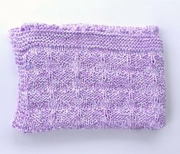 Soft Handmade Knit Baby Blanket ~ Afghan Throw ~ Shower Gift