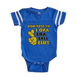 CafePress Step Mom Gifts Baby Football Bodysuit