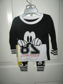 Disney Store Mickey Mouse PJ Pals Baby Boy 2 Pieces Size 9-1