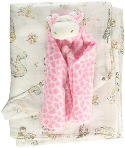 Angel Dear Swaddle and Blankie Gift Set, Savannah Floral wit