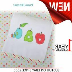The Very Hungry Caterpillar Fruits Pram/Moses Basket Blanket