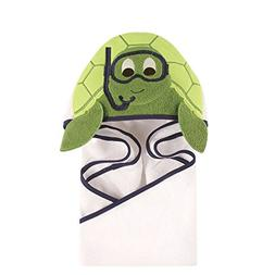 Hudson Baby Turtle Animal Face Hooded Towel
