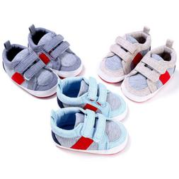 Unisex Crib Shoes Baby Cotton Cloth Soft Sole Sports Sneaker
