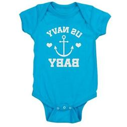 CafePress US Navy Baby Gift Cute Infant Bodysuit Baby Romper