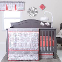 Trend Lab Valencia 3 Piece Crib Bedding Set, Coral