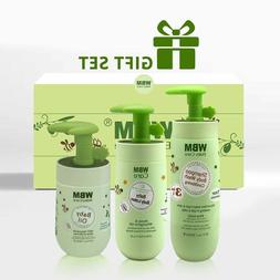 WBM Baby Care and Bath Products 3 In 1 Gift Set to Nourish S