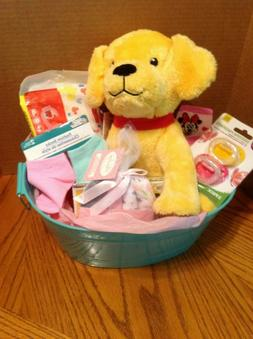 Welcome New Baby - Baby Girl Shower Gift Basket