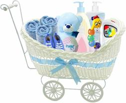 Wicker Hamper Pram Natural Baby Shower Gifts For Boy New Bor